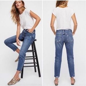 Free people boyfriend slim distressed jeans